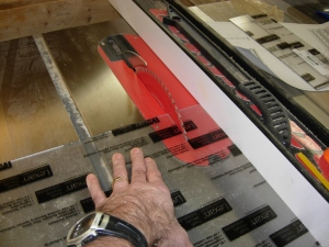 Cutting the Lexan