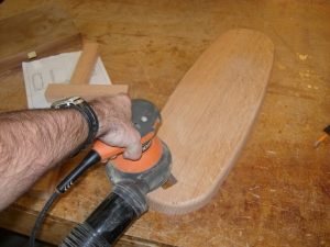 Sanding down the parts