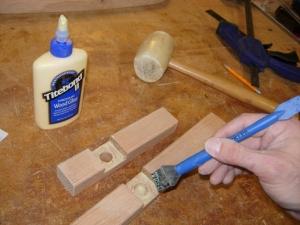 Applying glue