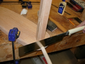 Cutting the second dowel