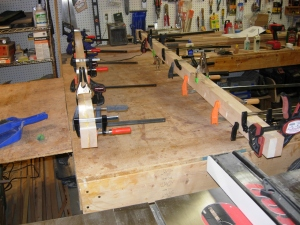 Clamping the rails together