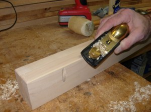 Chamfer with the block plane
