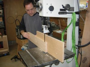 Finishing up on the band saw