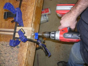 """Drilling 3/4"""" holes in ends"""