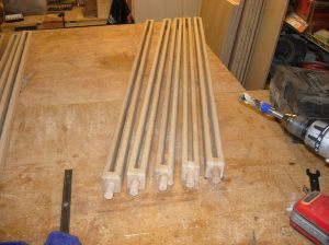Half of the spindles completed