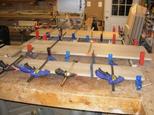 All the drawer faces clamped up