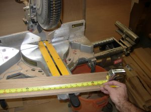 Cutting the drawer frame to length