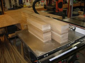 Drawer frames cut and milled