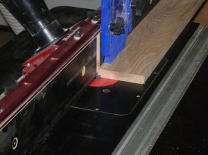 Cutting a rabbet in the long pieces