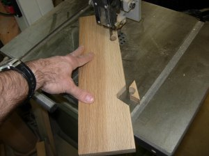 Cutting the notches for the cradles
