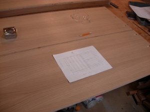 Laying out the holes to attach the face frame