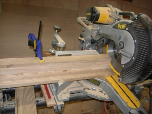 Cutting all the face frame horizontal pieces