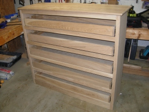 Drawers closed and top set in place