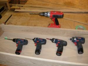 Nearly all of my screw guns...