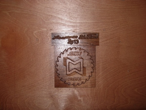 Carved maker's mark and signature