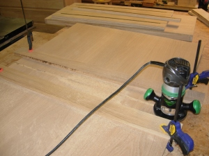 Routing the back panel