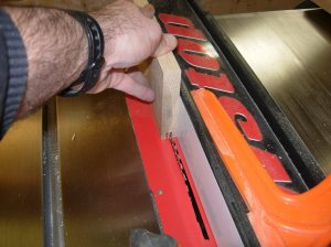 Cutting the center groove for the door frames