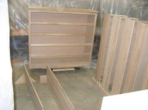 Lower cabinet, shelves, & drawers