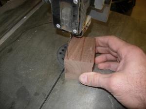 Cut a curved block