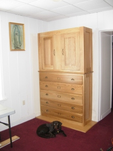 Upper cabinet installed