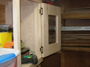Attaching the doors to the cabinet