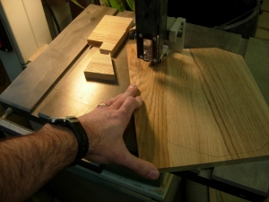 Cutting the sides on the bandsaw