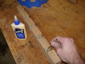 Applying more glue