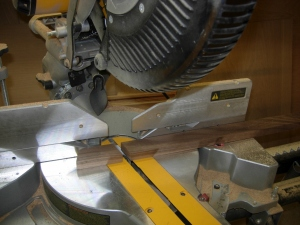Cutting the 15 degree miters