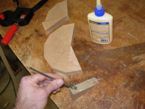Glueing up my off-cuts for the last one