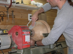 Starting with 80 grit sandpaper