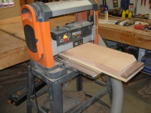 Planing the board flatter