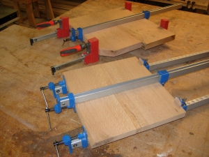 Both bases clamped and drying