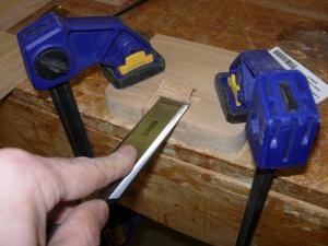 Cutting the lock pocket