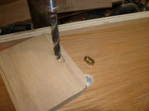 Drilling out the escutcheon pocket