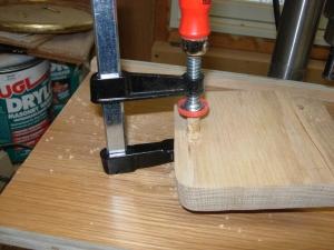Plug glued and drying