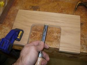 Cutting the bolt pocket