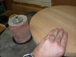 Spindle sanding the edges