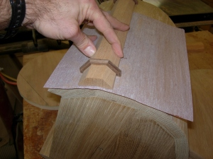 Sanding the banding to match the curves