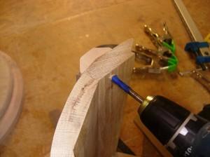 Drilling fastening holes