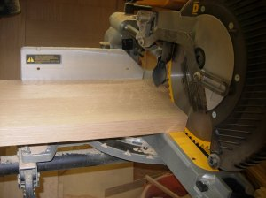 "Cutting the board 6"" oversize"