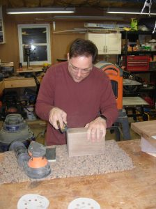 rounding the edges with a block plane