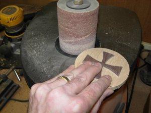 Sanding the edges