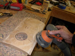 Finish sanding the panel