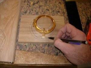 Laying out the lunette slot