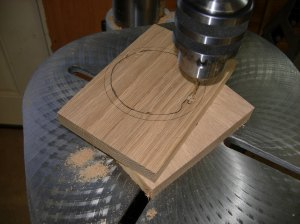Drilling starter holes for the scroll saw