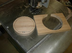 Cut the outside on the band saw
