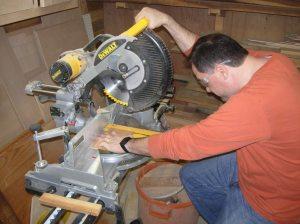 Cutting down the cedar bottom panel