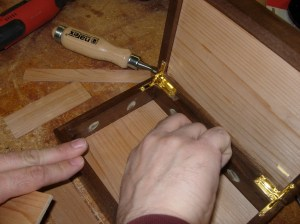 Applying wood glue