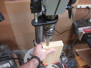Drilling the bulk of the mortise