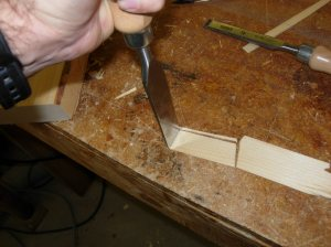 Cutting out the shim